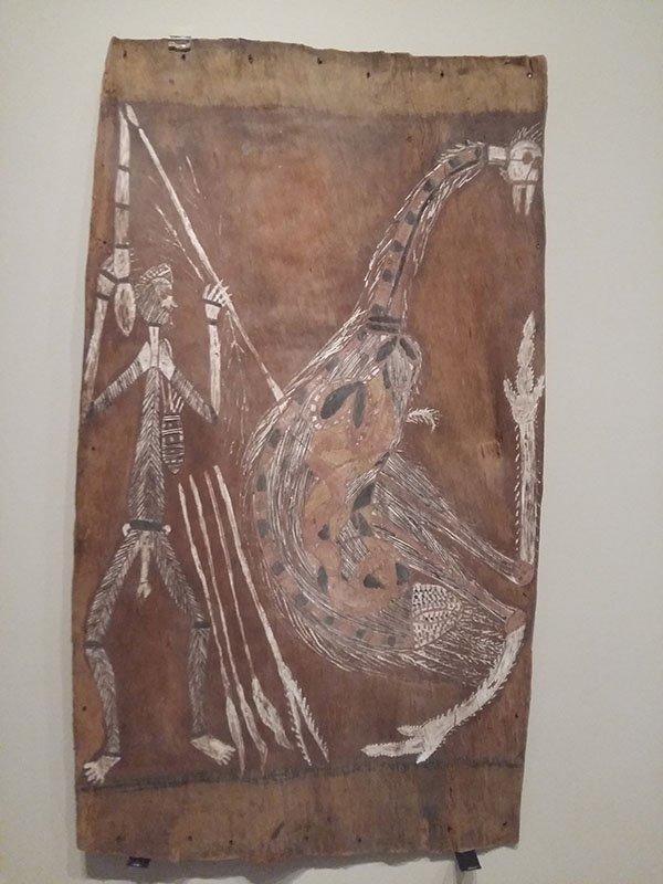 İsmi bilinmeyen Aborjin sanatçının resmi, Canberra Müzesi